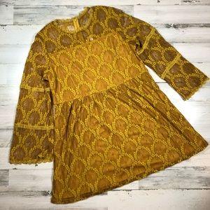 Xhileration Yellow Lace Dress Sz: XXL